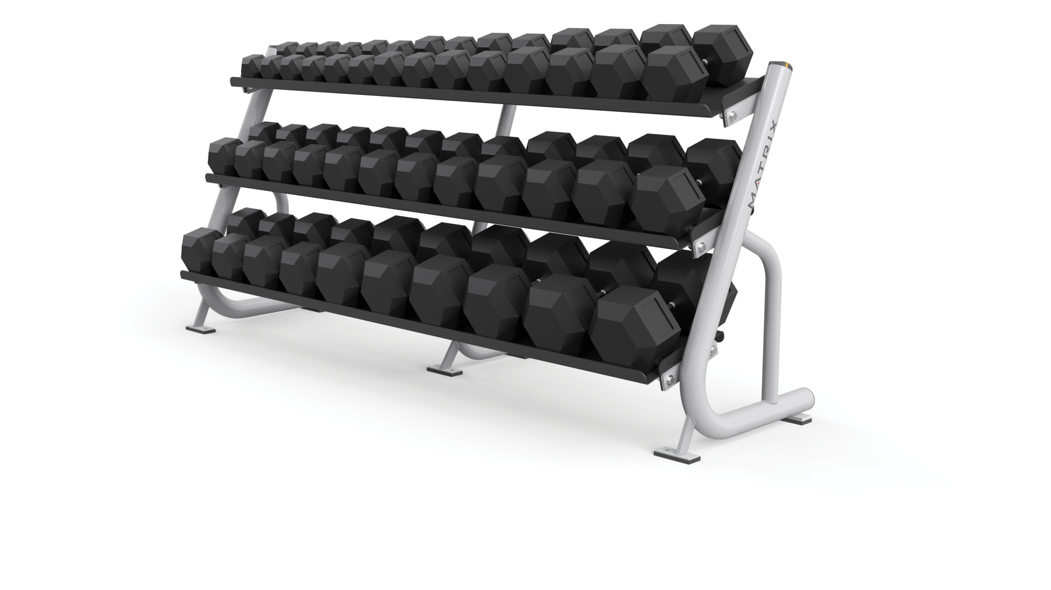 3-tier Flat-tray Dumbbell Rack