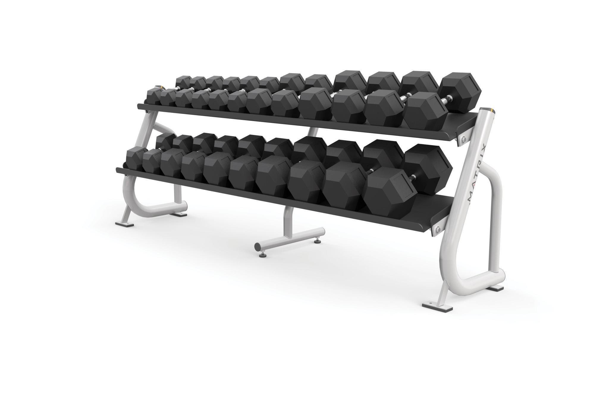 2-tier Flat-tray Dumbbell Rack