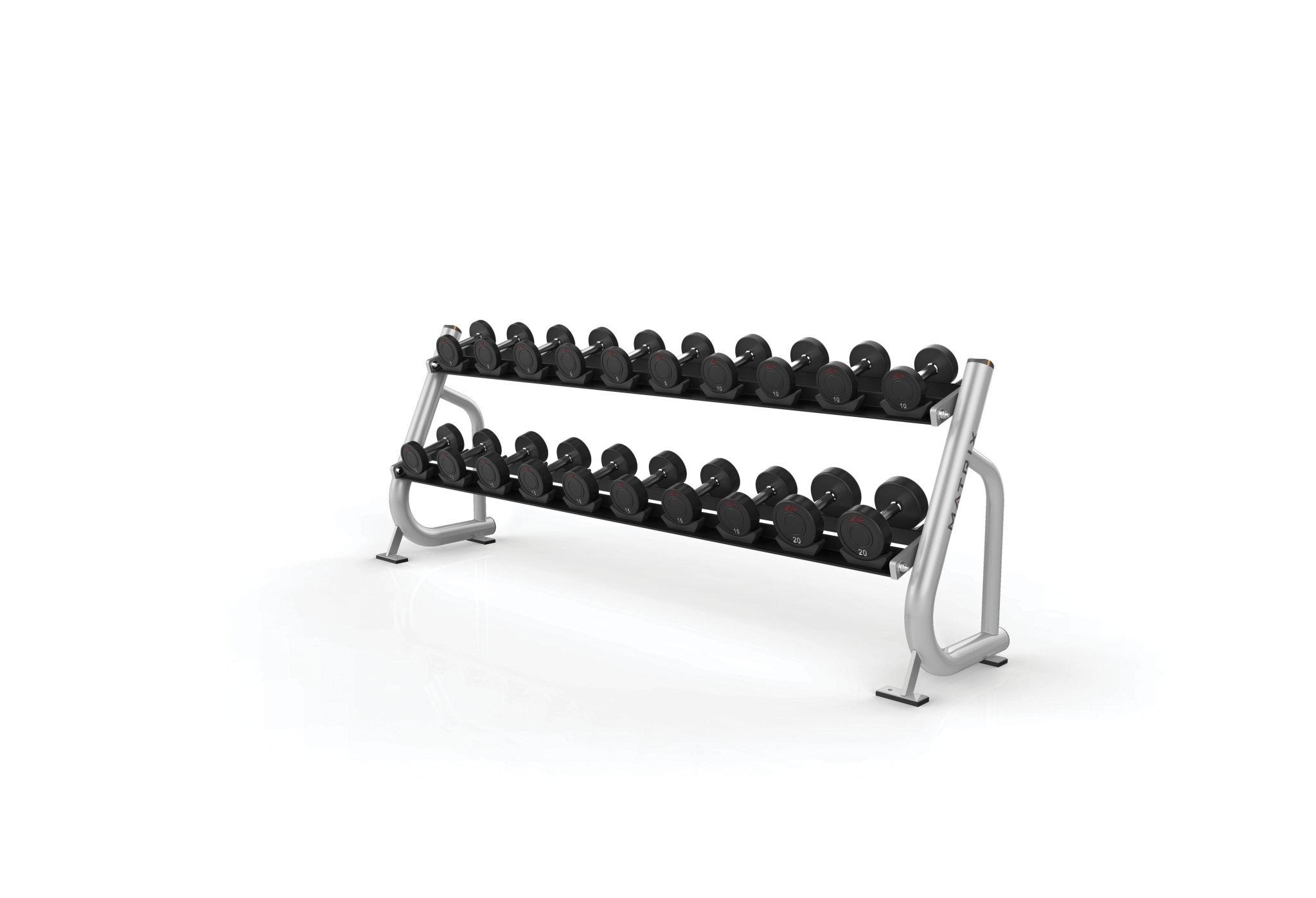 2-tier Dumbbell Rack w/Saddles