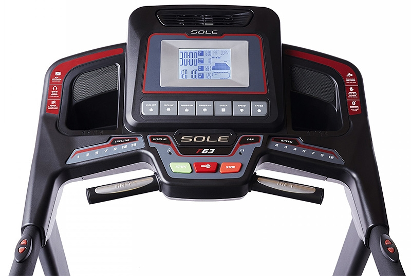 Sole F63 Treadmill Hero Console