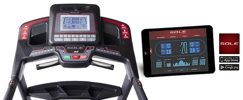 Sole F80 Treadmill Console with App