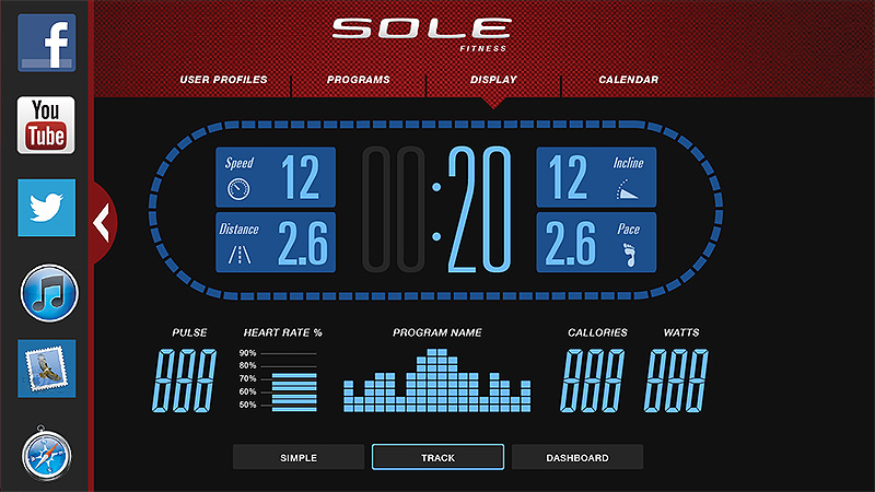 Sole F80 Treadmill - Fitness APP