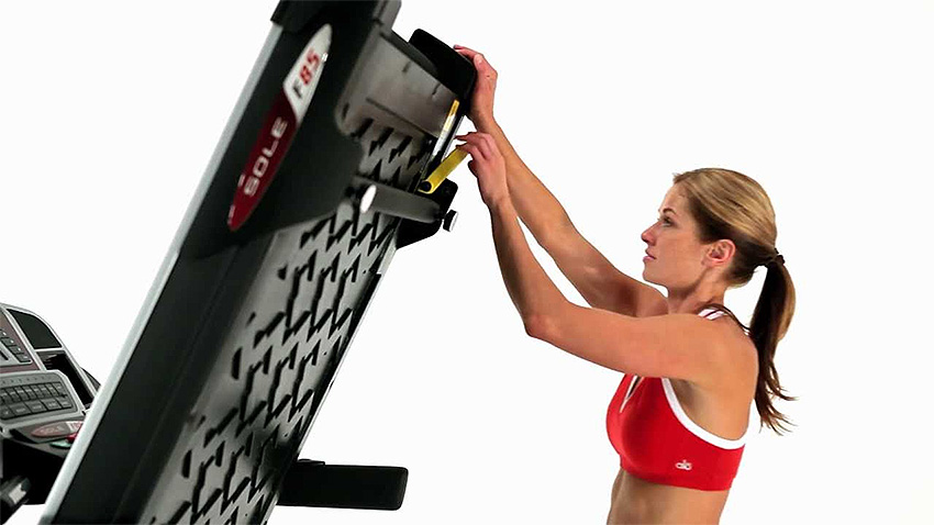 Folding the Sole F80 Treadmill